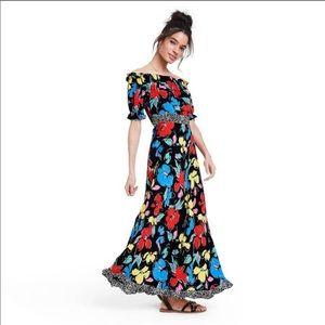 RIXO x Target Floral Off Shoulder Maxi Dress